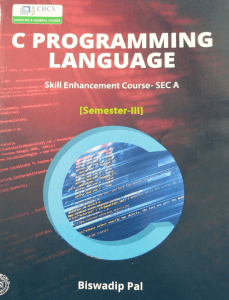 C PROGRAMMING LANGUAGE SEC A Book
