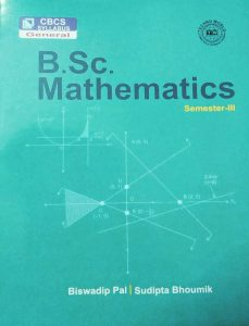 CBCS B.Sc Mathematics SEM 3 book