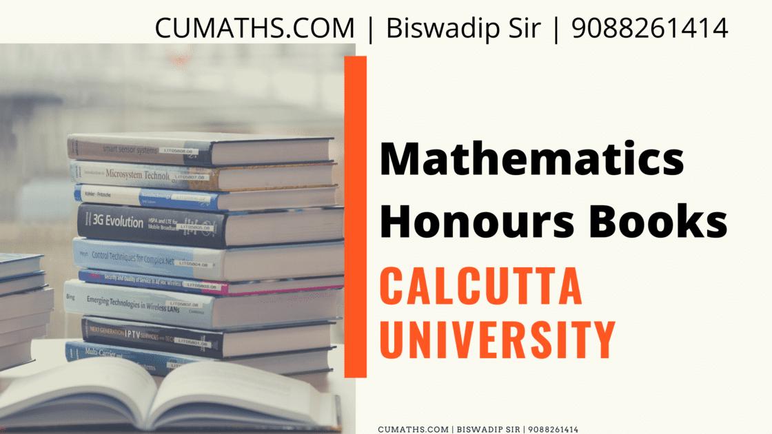 calcutta university mathematics honours books